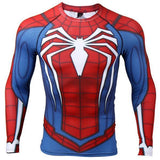 "Spiderman ""PS4 Advanced Suit"" Long Sleeve Compression Rashguard-RashGuardStore"