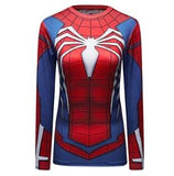 "Spiderman ""PS4"" Women's Compression Long Sleeve Rashguard-RashGuardStore"