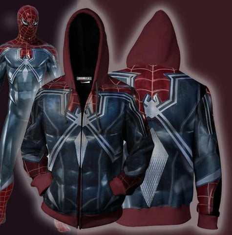 Spiderman 'Resilient' Zip Up Hoodie-RashGuardStore