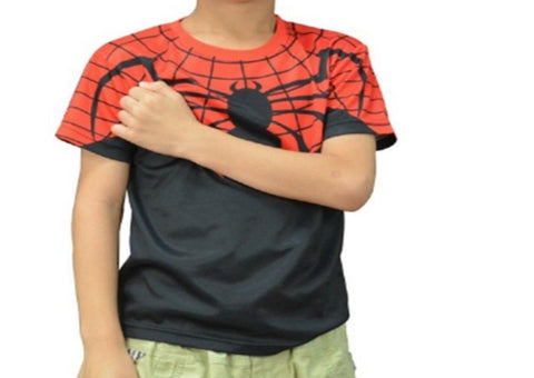 Spiderman 'Superior' Kid's Compression Short Sleeve Rashguard-RashGuardStore