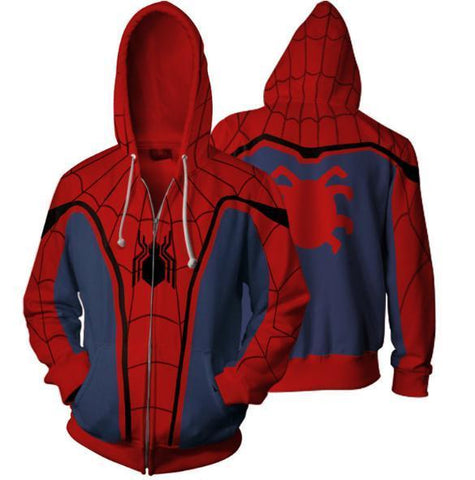 Spiderman 'Vintage' Zip Up Hoodie-RashGuardStore