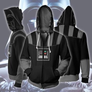 Star Wars 'Darth Vader' Zip Up Hoodie-RashGuardStore