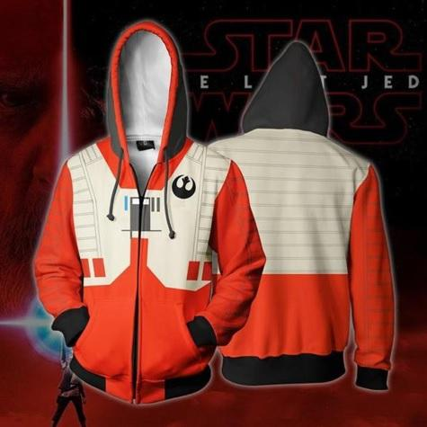 Star Wars 'Rebel Alliance Pilot' Zip Up Hoodie-RashGuardStore