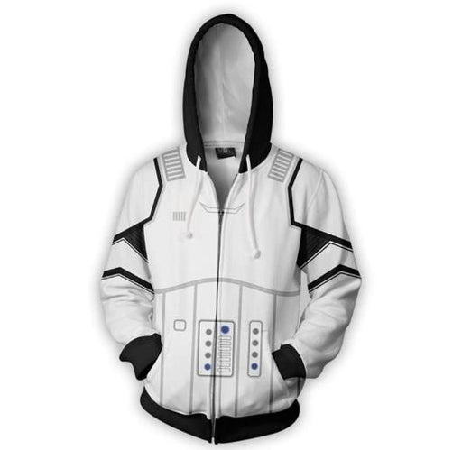 Star Wars 'Storm Trooper' Zip Up Hoodie-RashGuardStore
