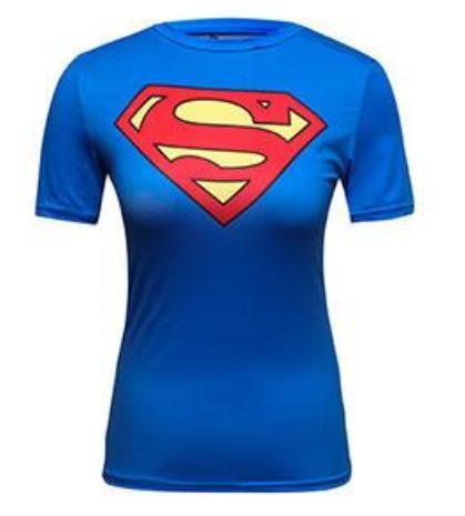 Supergirl 'Classic' Compression Short Sleeve Rash Guard-RashGuardStore