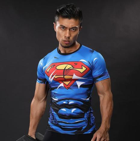 "Superman ""Action Comics"" Compression Short Sleeve Rashguard-RashGuardStore"