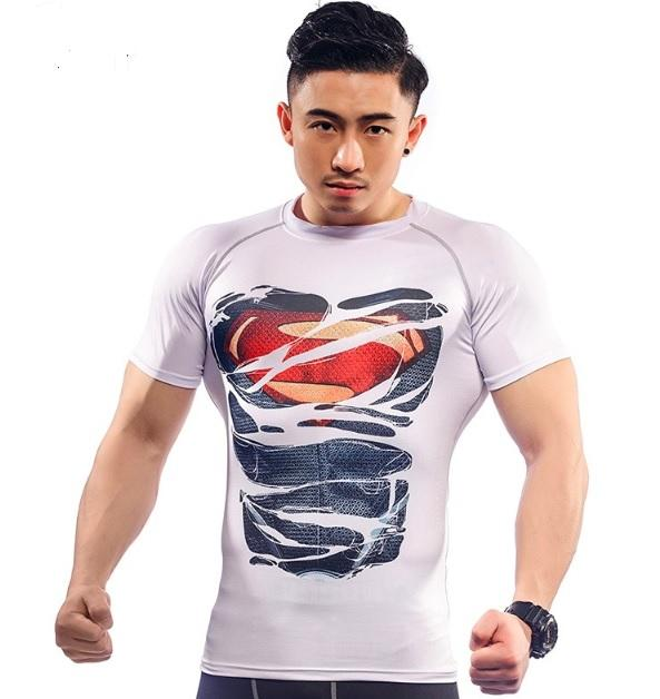 "Superman ""Dark Hero Revealed"" Compression Short Sleeve Rashguard-RashGuardStore"