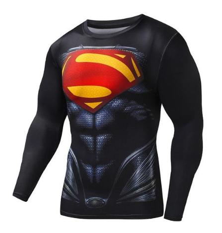 "Superman ""Evil"" Compression Long Sleeve Rashguard-RashGuardStore"