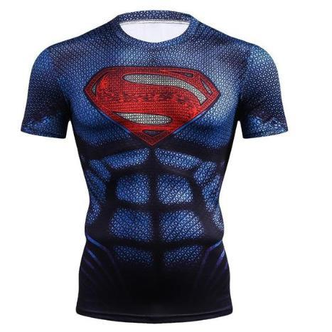 "Superman ""Kingdom Come"" Compression Short Sleeve Rashguard-RashGuardStore"