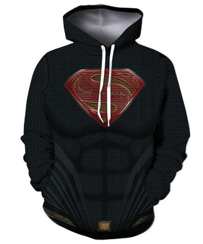 Superman 'Man of Steel' Hoodie-RashGuardStore