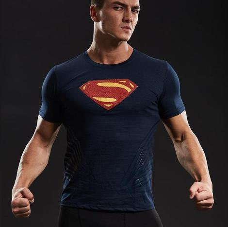 "Superman ""Man Of Tomorrow"" Short Sleeve Compression Rashguard-RashGuardStore"