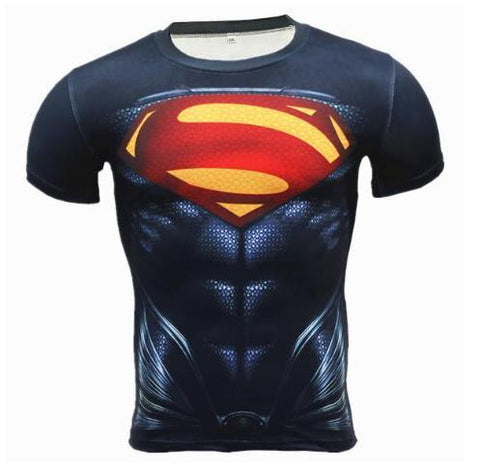 "Superman ""Metropolis"" Compression Short Sleeve Rashguard-RashGuardStore"