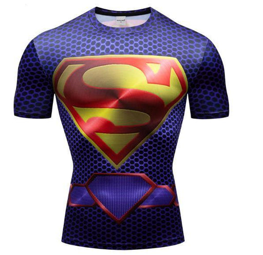 "Superman ""New 52"" Premium Dri-Fit Short Sleeve Rashguard-RashGuardStore"