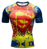 "Superman ""Paintball"" Premium Dri-Fit Short Sleeve Rashguard-RashGuardStore"