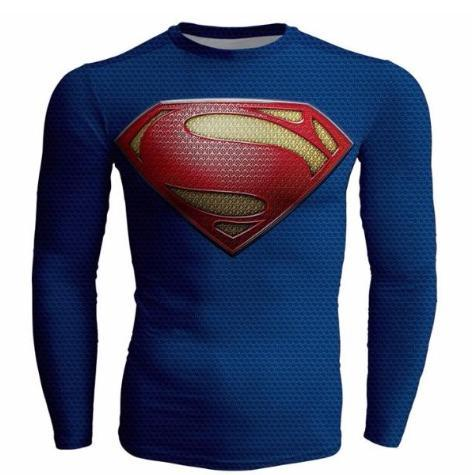 "Superman ""Return Of Superman"" Compression Long Sleeve Rashguard-RashGuardStore"