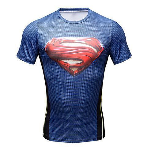 "Superman ""Smallville"" Compression Short Sleeve Rashguard-RashGuardStore"