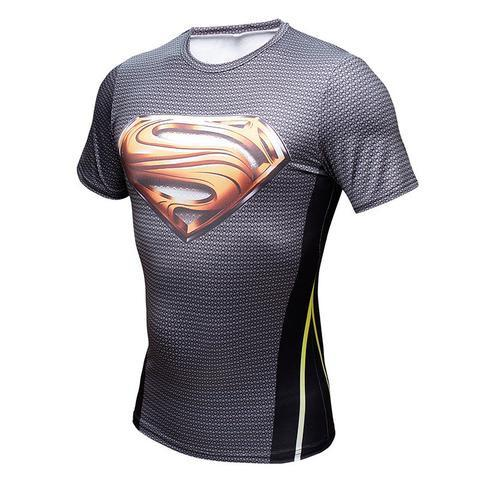 "Superman ""Smallville Gold S"" Compression Short Sleeve Rash Guard-RashGuardStore"