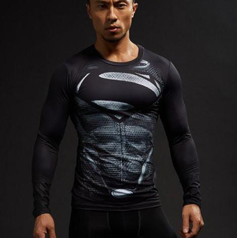 "Superman ""Son Of Superman"" Compression Long Sleeve Rashguard-RashGuardStore"