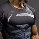 "Superman ""Son Of Superman"" Compression Short Sleeve Rashguard-RashGuardStore"