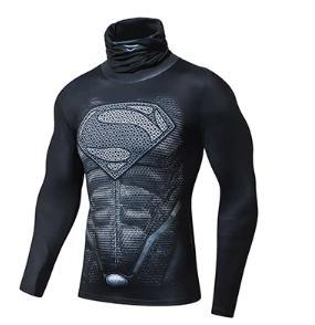 "Superman ""Son Of Superman"" Long Sleeve Compression High Collar Rashguard-RashGuardStore"
