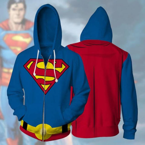 Superman Zip Up Hoodie-RashGuardStore