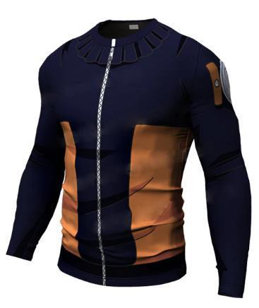 Teen Naruto Long Sleeve Compression Rash Guard-RashGuardStore