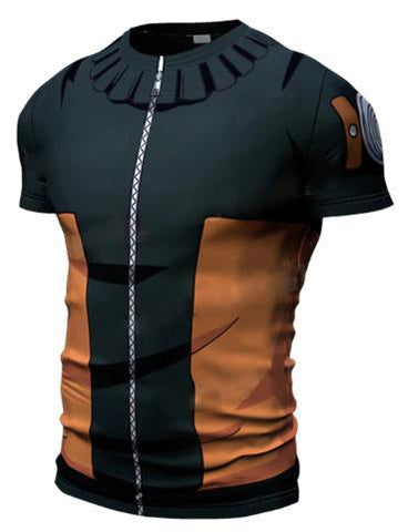 Teen Naruto Short Sleeve Compression Rash Guard-RashGuardStore