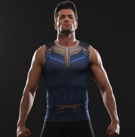 Thanos Compression Tank Top-RashGuardStore