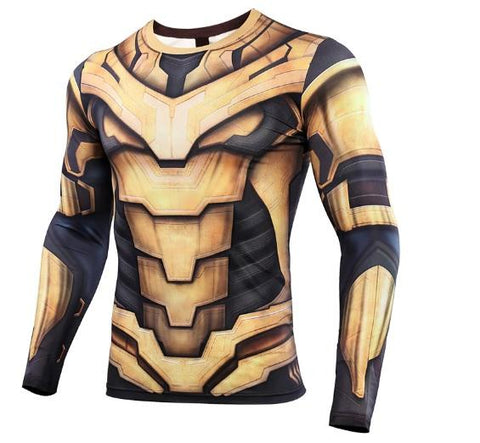 Thanos 'End Game Armor' Premium Compression Long Sleeve Rash Guard-RashGuardStore