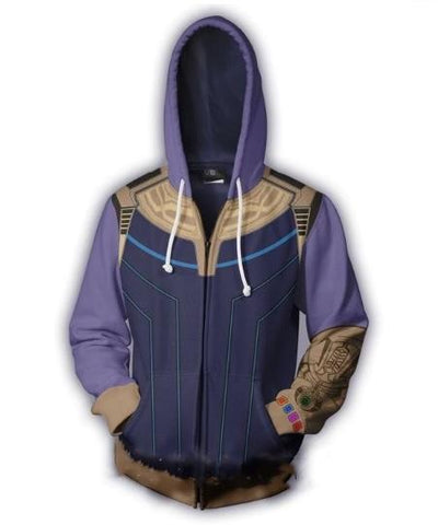 Thanos 'Infinity War' Zip Up Hoodie-RashGuardStore