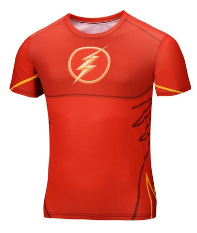 "The Flash ""Animated"" Short Sleeve Compression Rash Guard-RashGuardStore"