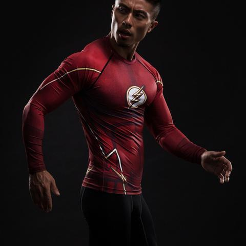 The Flash 'Classic' Compression Long Sleeve Rash Guard-RashGuardStore