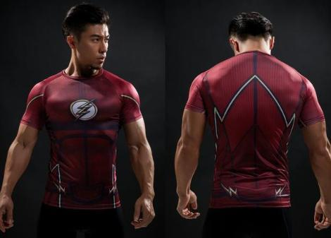 The Flash 'Classic' Compression Short Sleeve Rash Guard-RashGuardStore