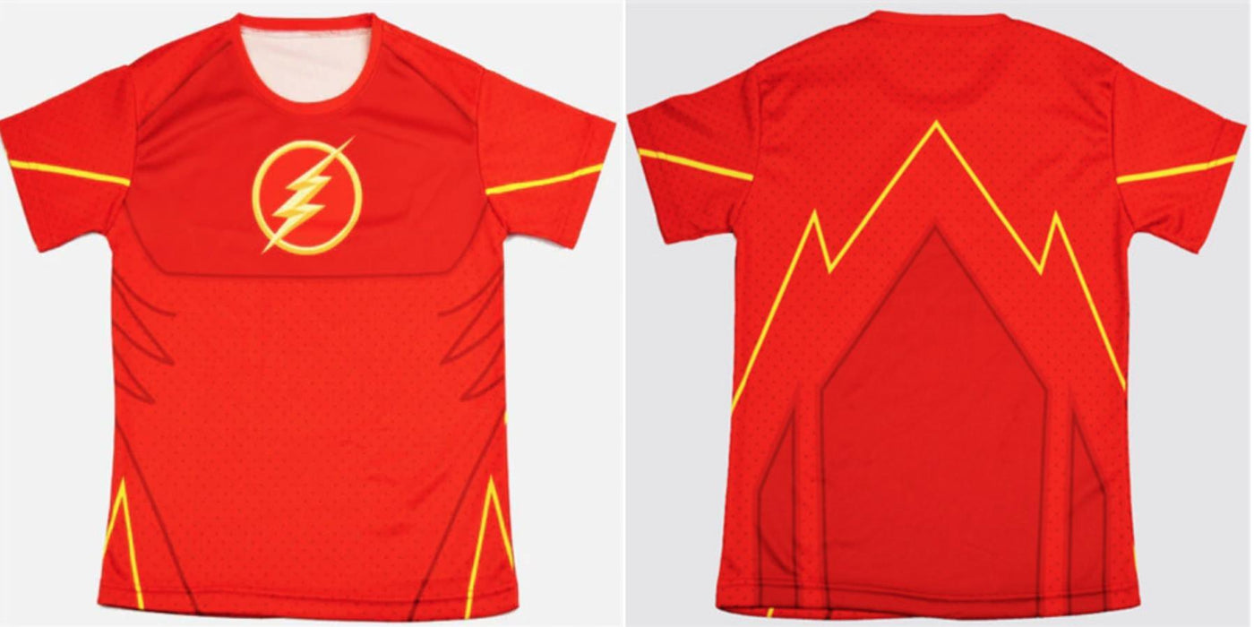 "The Flash ""Classic"" Kids Compression Short Sleeve Rashguard-RashGuardStore"