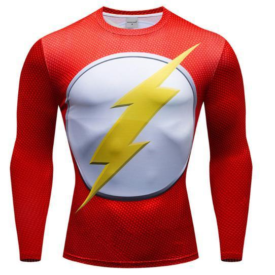 The Flash 'Classic' Premium Dri-Fit Long Sleeve Rashguard-RashGuardStore