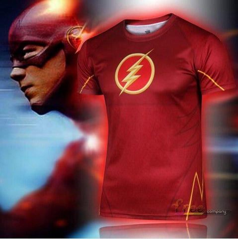 "The Flash ""Classic"" Short Sleeve Compression Rash Guard-RashGuardStore"