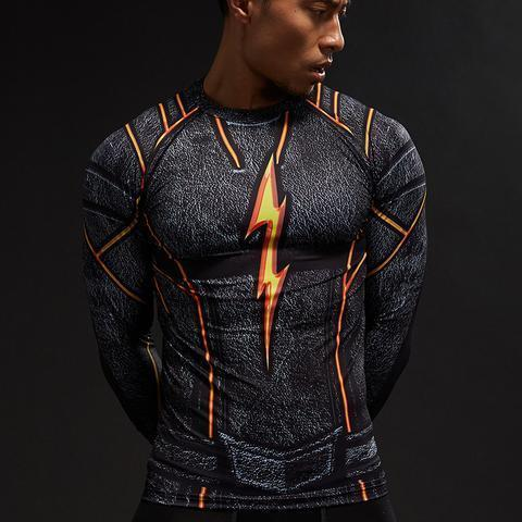 "The Flash ""Dark"" Compression Long Sleeve Rashguard-RashGuardStore"