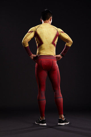 The Flash Men'S Compression Leggings Grappling Spats-RashGuardStore