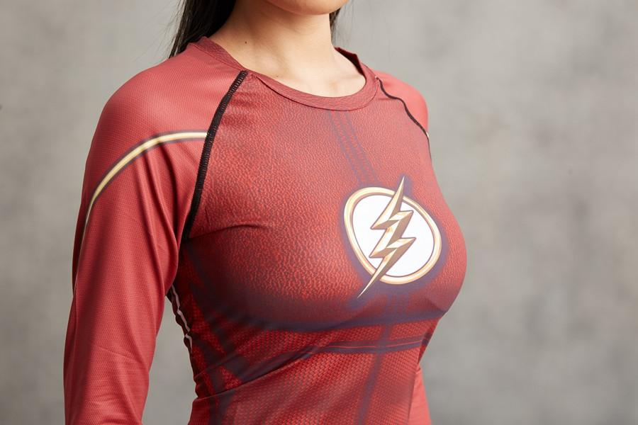 The Flash Women's Compression Rashguard-RashGuardStore