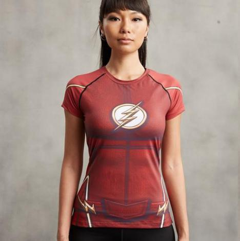 The Flash Women's Short Sleeve Compression Rashguard-RashGuardStore