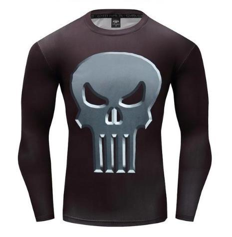 The Punisher 'Classic' Long Sleeve Compression Rashguard-RashGuardStore