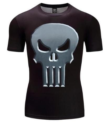 The Punisher 'Classic' Short Sleeve Compression Rashguard-RashGuardStore