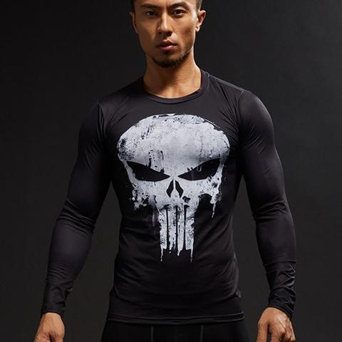 The Punisher Long Sleeve Compression Rashguard-RashGuardStore