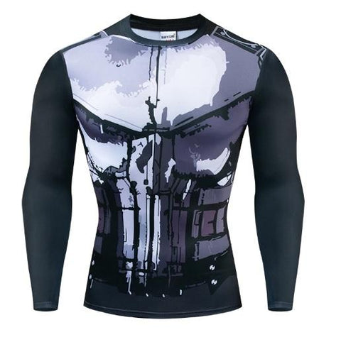 The Punisher Long Sleeve Dri-Fit Rashguard-RashGuardStore