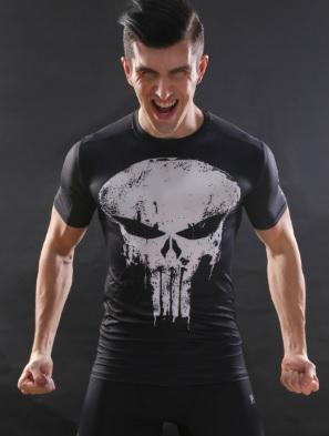 The Punisher Short Sleeve Compression Rashguard-RashGuardStore