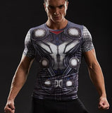 Thor 'Battle Armor' Short Sleeve Compression Rashguard-RashGuardStore