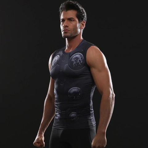 Thor 'Infinity War' Compression Tank Top-RashGuardStore