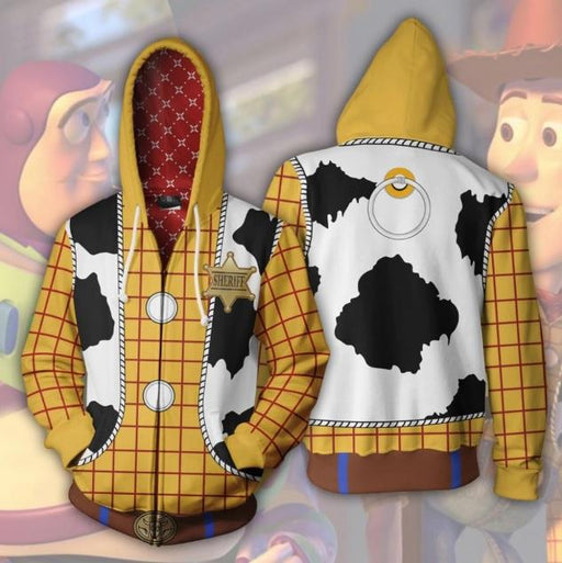 Toy Story 'Woody' Zip Up Hoodie-RashGuardStore
