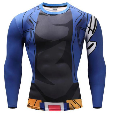 Trunks Long Sleeve Dragon Ball Z Compression Rash Guard-RashGuardStore