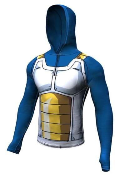 Vegeta Cell Armor Dragon Ball Z Long Sleeve Rashguard Hoodie-RashGuardStore